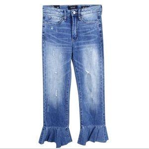 EUC Buffalo high rise ivy ruffle distress jeans 30